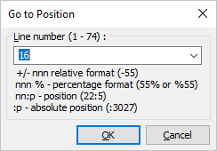 HippoEDIT Go To Position dialog