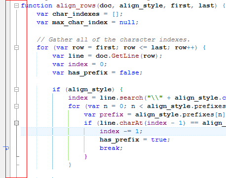 HippoEDIT with highlighted outlining on mouse hover